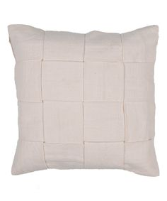 Look at this #zulilyfind! White Thatch Throw Pillow by Jaipur Rugs #zulilyfinds