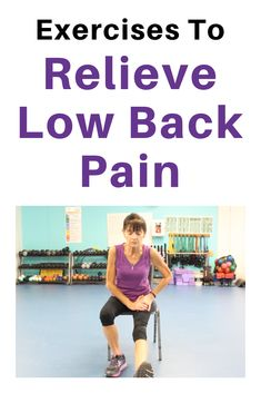 Find low back pain relief with this low intensity chair exercise for seniors. This video will help ease pain and loosen up a stiff back. Chair Exercises, Stretching Exercises, Stretches, Easy Workouts, At Home Workouts, Stretching For Seniors, Exercises For Seniors, Low Back Pain Relief, Lower Back Exercises