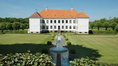 Clausholm Slot / castle, near Randers. The gardens were planted around 1700, from gardenplans by architect to the Swedish court, Nicodemus Tessin and is one of the best examples of a baroque garden in Denmark. The main building is from ca. 1690.