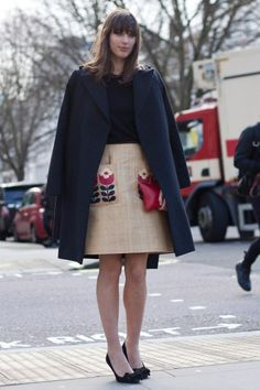 LFW 2014 street style captured outside Emilia Wickstead show by Vanity Fair