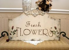 shabby chic sign