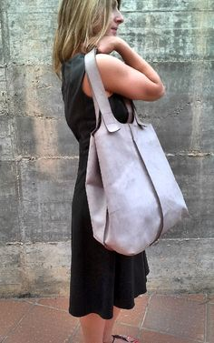 TOTE BAG OVERSIZE- Shopper leather bag- one of a kind- Large leather tote bag-