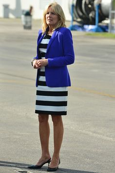 Jill Biden Fashion, Now And Then Photos Style Evolution Holding Court, Jill Biden, Two Ladies, High School Girls, Other Outfits, Working Woman, Michelle Obama, Everyday Outfits, Pretty Outfits