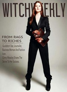 Ginny Weasley on the cover of witch weekly