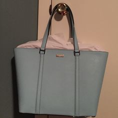 Kate Spade Sawyer Street Maxi New with tags. Tiffany blue  such a classic bag.  **NOTE - Kate Spade items can NOT be discounted as part of the buy one get one half off sale** kate spade Bags Totes