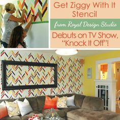 Herringbone Stencil on 'Knock It Off' with East Coast Creative | Royal Design Studio