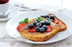 Tosty francuskie na słodko, tosty francuskie, śniadanie, chleb w jajku, Sweet French toast, French toast, breakfast, bread in the egg, http://najsmaczniejsze.pl #food #breakfast #French toast