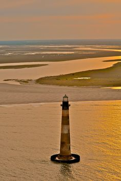 Morris Island Lighthouse <3 so beautiful! I want to see it in South Carolina