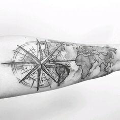 """Para onde você quer viajar agora? Tatuagem feita pela <a href=""""http://instagram.com/jaquelinesantoso"""">@jaquelinesantoso</a> #"""