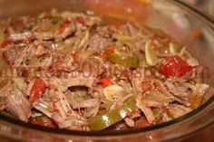 Crockpot Ropa Vieja - Latin Style Shredded Beef - serve with flour tortillas