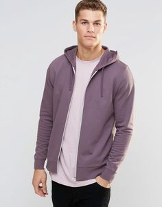 ASOS+Zip+Up+Hoodie+In+Purple