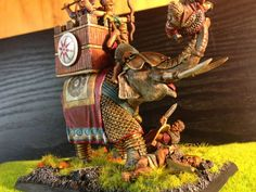 The Internet's largest gallery of painted miniatures, with a large repository of how-to articles on miniature painting War Elephant, Old Glory, Warfare, Old World, Old Things, Miniatures, Clock, Soldiers, Painting