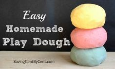 This Homemade Play Dough is easy to make, doesn't cost a lot of money and is only 6 ingredients.