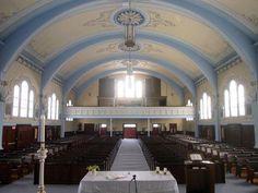 Église du Christ-Roi. Vue intérieure / © Conseil du patrimoine religieux du Québec 2003