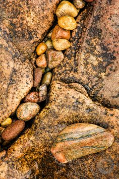 Beach rocks and Lake Superior sandstone by Mark Graf Photography
