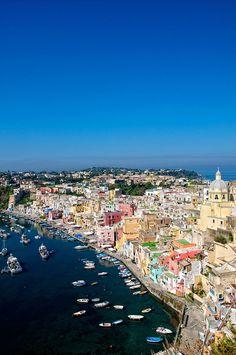 Marina Corricella, Procida Island, Campania, Italy #herethereeverywhere