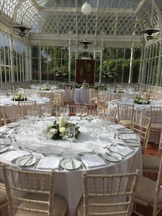 Tables at Horniman Conservatory