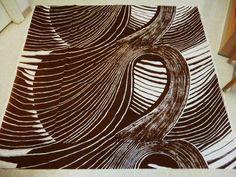 "Tampella Finland, ""Hyöky"" or ""Tidal wave"" Retro Vintage 70's Original Fabric #Tampella #Waves"