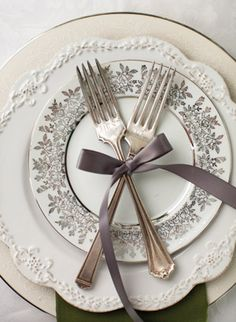 sweet engraved forks | Nancy Ray #wedding