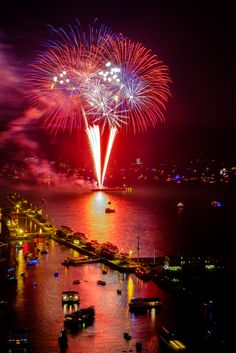 Chicago Fireworks - Fourth of July fireworks near Chicago's Navy Pier. Pinned by #CarltonInnMidway - www.carltoninnmidway.com