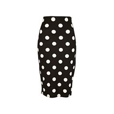 black polka dot pencil skirt, 20pounds, women - River Island (505 MXN) ❤ liked on Polyvore featuring skirts, bottoms, black, faldas, polka dot skirt, dot skirt, knee length pencil skirt, river island and polka dot pencil skirt