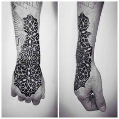 Beautifully Complex Geometric Tattoo Sleeves by Brandon Crone - BlazePress