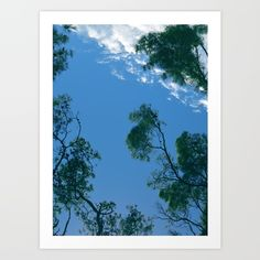 Collect your choice of gallery quality Giclée, or fine art prints custom trimmed by hand in a variety of sizes with a white border for framing.#mediterranean #sky #lightblue #clouds