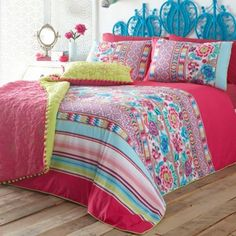 Pink 'Frida' Bed Linen by Matthew Williamson. I love this set, as the combination of colours and patterns is fantastically bright and vibrant.