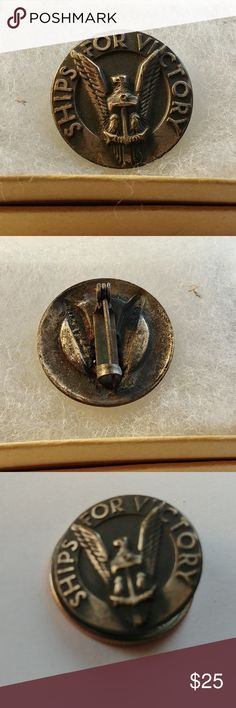 I just added this listing on Poshmark: Vintage Rare WWII maritime commission pin.