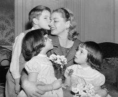 Ingrid Bergman with her children