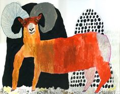 Miroko Machiko . Japanese artist .Wonderfully idiosyncratic style and rich use of colour .