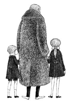 Over the years, Edward Gorey collected twenty-one fur coats, which he was notorious for wearing with Converse sneakers, often to the New York City Ballet. Sometime in the eighties, however (he died in. Edward Gorey, Illustrations, Children's Book Illustration, Don Kenn, Vladimir Kush, City Ballet, Tinta China, Guache, Gravure