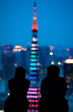 Tokyo Tower lights : Roppongi, Tokyo, Japan / Japón