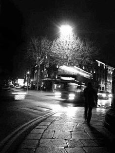 Ireland Print, Black And White Photography, Night Photography, Irish Wall Art, Black And White Night Photography Prints