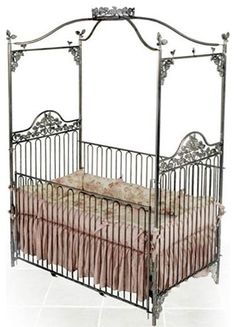 *dies*. Need. Garden Jewel Iron Baby Crib eclectic cribs