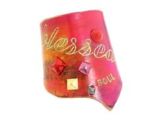 Leather Couture by Jessica Galindo Classic Freeform Cuff--Blessed Soul