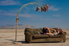"A blog post entitled ""Home Decor Lessons Learned at Burning Man"". Whatever you may think of Burning Man, the way it creates a There out of Nowhere is truly remarkable… and there are lessons to be gleaned."