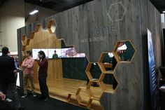 The organic wood grain features are becoming very popular. Nice use of hexagons. #NotSquare