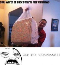 Get the checkbook...