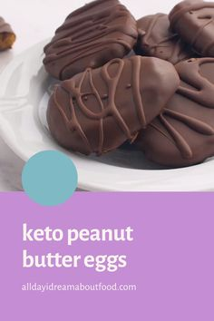 Youre going to love these sugar-free keto Peanut Butter Eggs! A healthy Easter candy option that taste just like Reeses. kids adore them and dont miss the sugary version. Keto Desserts, Keto Dessert Easy, Dessert Recipes, Keto Cookies, Peanut Butter Eggs, Comida Keto, Keto Candy, Fat Foods, Ketogenic Recipes