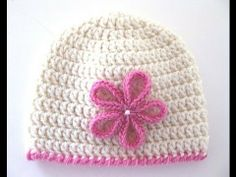 Crochet a Basic Hat Tutorial - Double Crochet - Newborn to Adult size Pa...