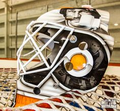 The Philadelphia Flyers recent hiring of former goaltending great Ron Hextall as an assistant general manager was perfect timing for InGoal Magazine equipment tester Aaron Slagman, who already had plans to feature the infamous goalie on his new mask.