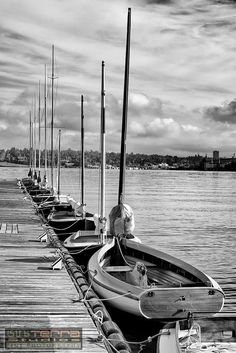 Sailboat Livery, Center for Wooden Boats, South Lake Union, Seattle, WA (Home decor wall art photo)