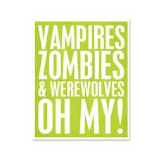Halloween Typgraphy Vampires Zombies