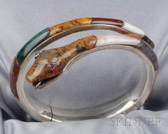 Fine Mid-Victorian Scottish Agate Snake Bracelet | Sale Number 2510, Lot Number 119 | Skinner Auctioneers
