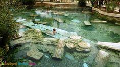 Places to Visit in Pamukkale - Turkey Travel Points Pamukkale, Travel Around The World, Around The Worlds, Desert Places, Roman History, Art History, My Pool, Turkey Travel, Fantasy
