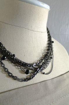 Muti-chain Gunmetal Necklace #Byrnes Jewelers