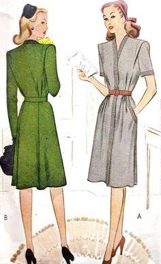 1940s Misses Dress