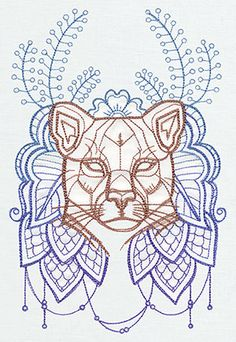 Anima - Cougar | Urban Threads: Unique and Awesome Embroidery Designs