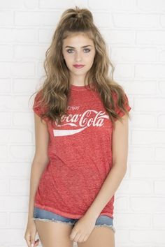 Vintage red Coca Cola t-shirt from Ardene. Shop more products from Ardene on Wanelo. Vintage Coca Cola, Coca Cola Shirt, Cool Outfits, Fashion Outfits, Fashion Clothes, Summer Outfits, Off Shoulder Fashion, Discount Clothing, Affordable Fashion